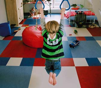 marmoleum click laminaat - colours for kids - kinderkamer vloeren